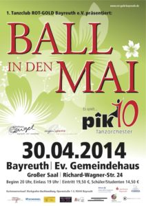 Ball in den Mai 2014 Plakat